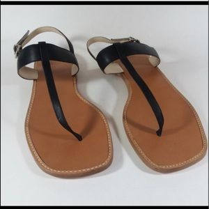 Black coach sandals. GUC!